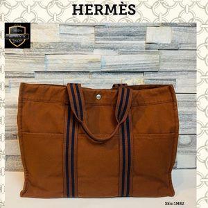 Hermes tote bag fourne tout MM brown handbag